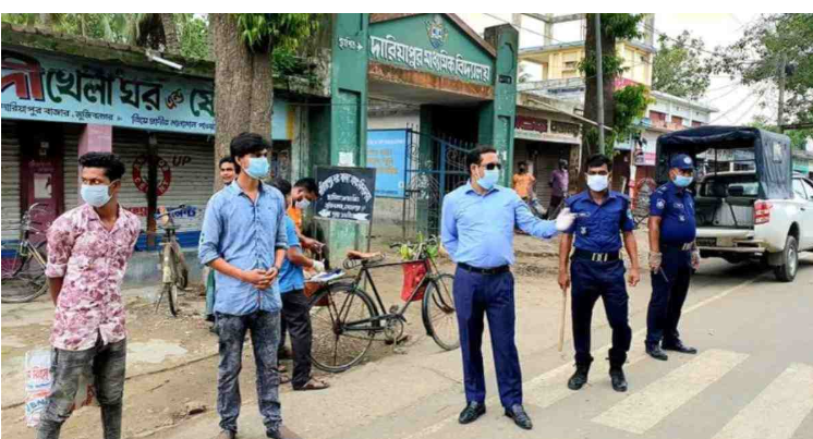 52 people fined for not wearing masks in Meherpur