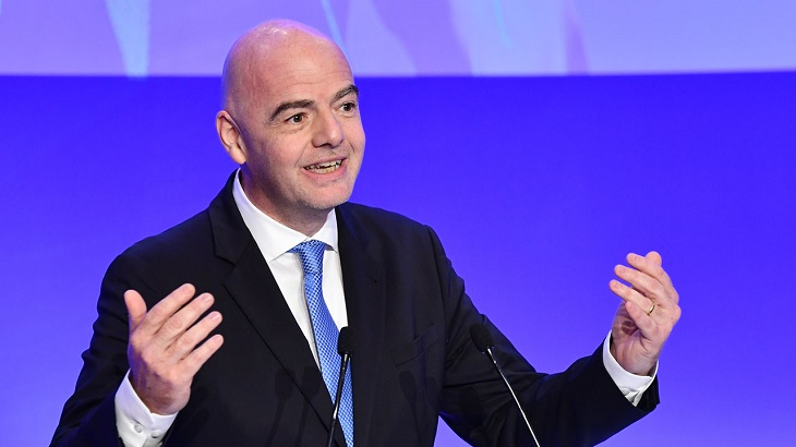 Infantino says player calls for Floyd justice should be 'applauded'