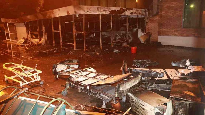 5 patients' death in fire: United Hospital sued on negligence charge