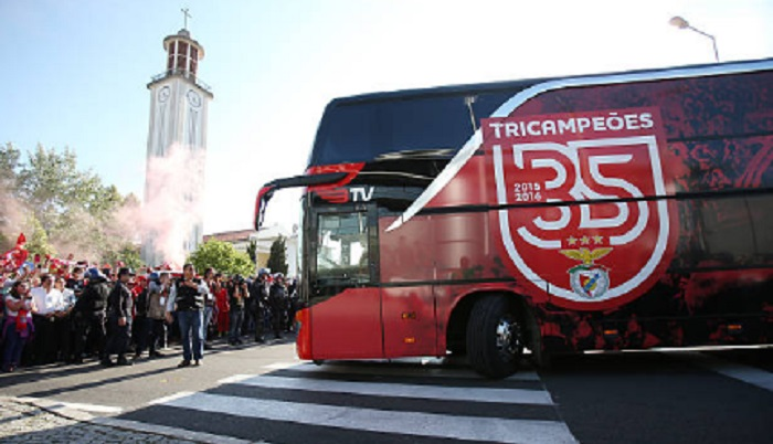 Two Benfica players go to hospital after bus attack