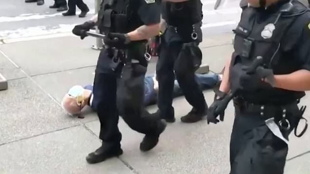 57 Buffalo cops resign from response team after officers suspended for shoving 75-year-old man to ground