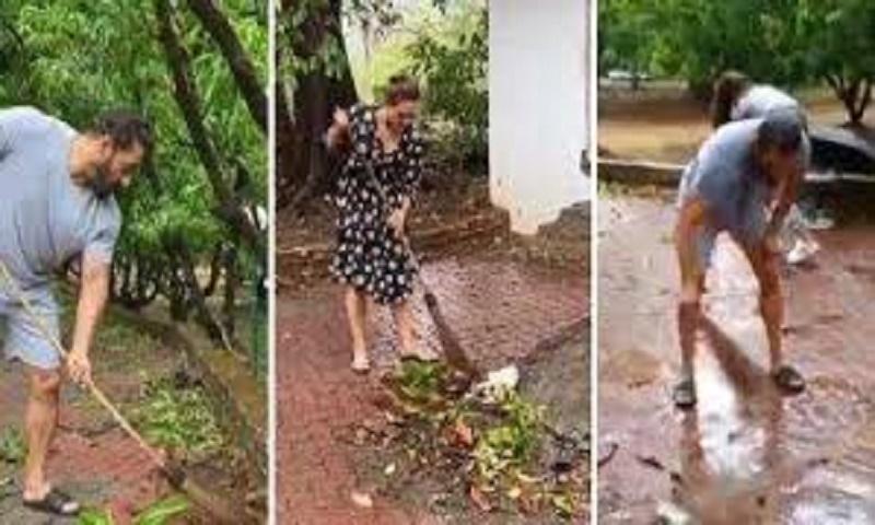 Salman Khan cleans his Panvel farmhouse with Iulia Vantur