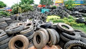 Discarded tyres a  source of dengue