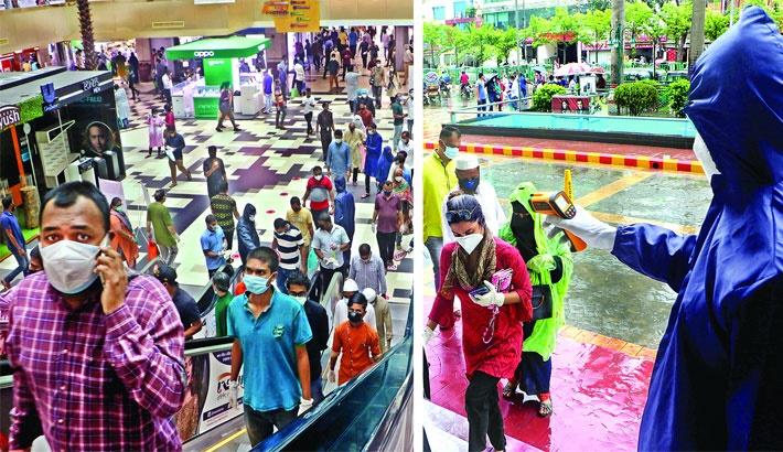Bashundhara City Shopping Mall shows the way