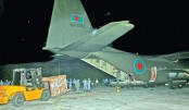 BAF aircraft brings medical supplies from S Korea