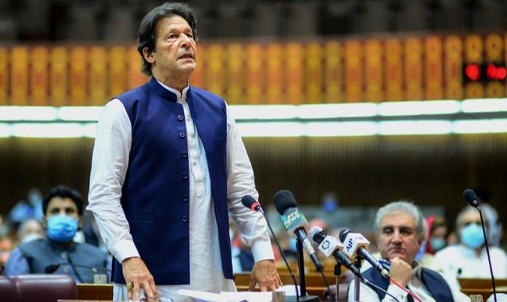Pakistan PM Imran Khan blames India for stock exchange attack