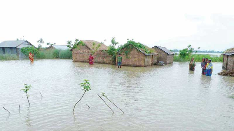 Flood situation remains unchanged in Jamalpur