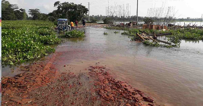 Thousands suffer as road turns unfit within a year of renovation in Sunamganj