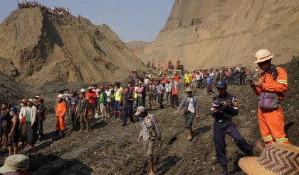 At least 50 killed, many feared missing in jade mine landslide in Myanmar