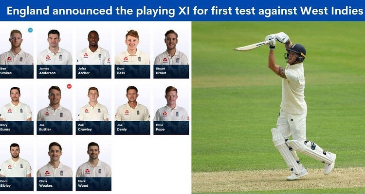 England squad for first Test against the West Indies
