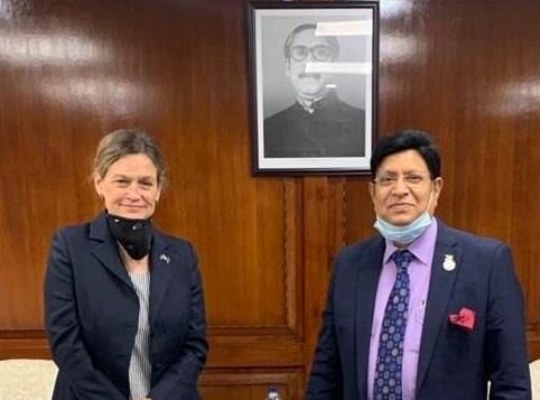 Ambassador of Sweden in Dhaka makes farewell calls on Foreign Minister, Foreign Secy