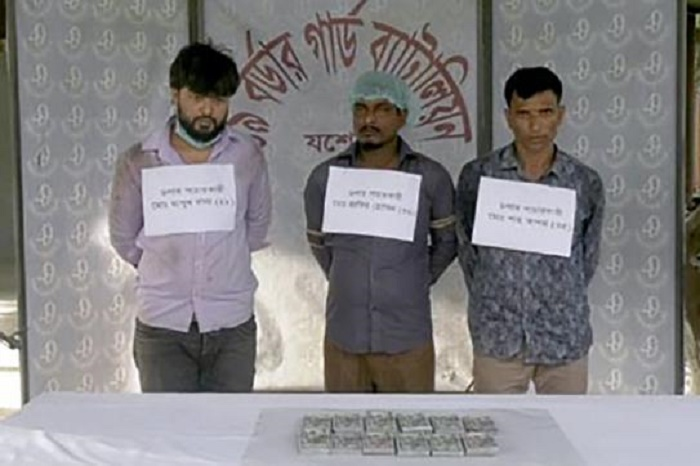 3 held with foreign currencies in Jashore