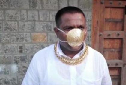 Man wears mask made of gold worth nearly 4 lakh taka