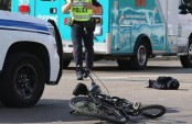 Bicycle rider killed in city after truck hit him