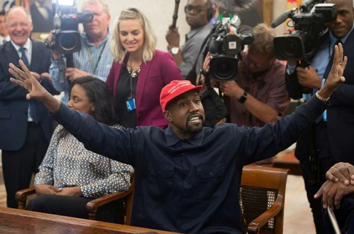 'Red hat off': White House hopeful Kanye West breaks with Trump
