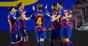 Barcelona stay in touch with Real Madrid and send down rivals Espanyol