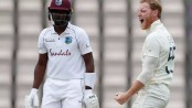 Stokes strikes as West Indies close on England total