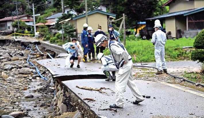 Devastating flood and landslides attack in Japan