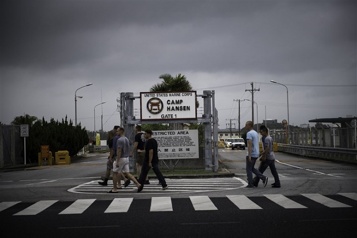 US marines in Japan test positive for virus