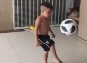 Harbhajan Singh shares video of young boy doing kick-ups