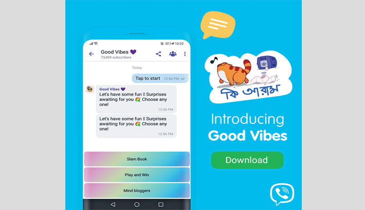 Viber launches good vibes bot