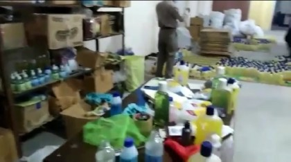 Fake hand sanitiser factory busted in Adabar (Video)