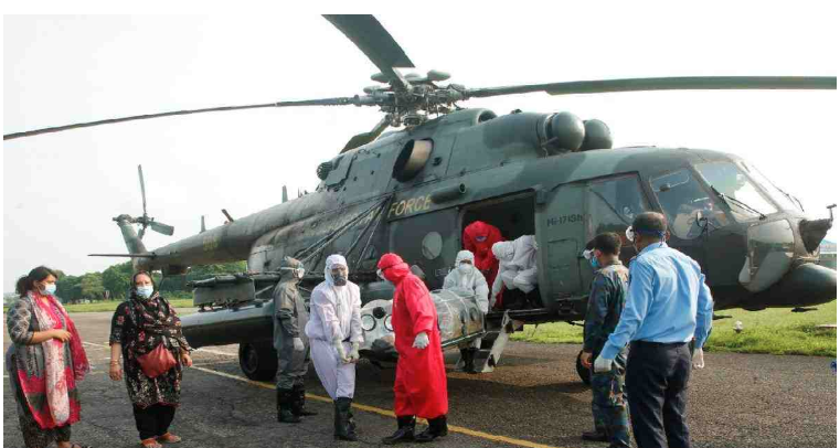 Bangladesh Air Force provides crucial support to Covid-19 patients