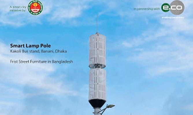 DNCC installs 1st multipurpose smart lamp pole