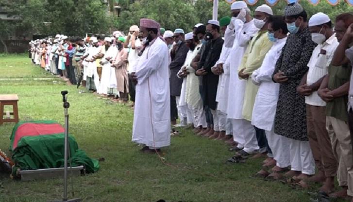 First namaj-e-janaza of Shahjahan Siraj held in Tangail