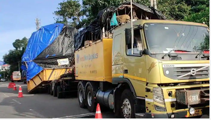 74-wheel truck with 70 tonnes of cargo covers 1,700 km to reach Kerala in 10 months