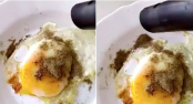 Man uses vacuum cleaner to remove extra pepper from egg - see what happens next
