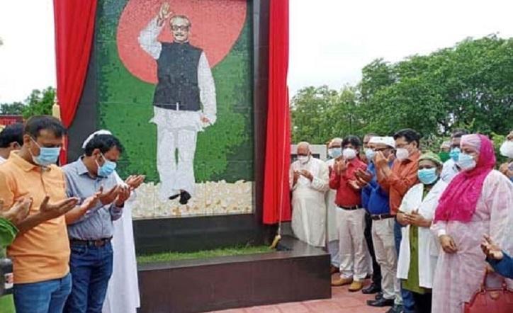 Bangabandhu's mural unveiled at KMC