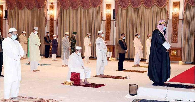 President offers Eid prayers at Bangabhaban Durbar Hall