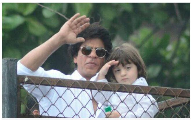 Eid Mubarak from Shah Rukh Khan and Abram