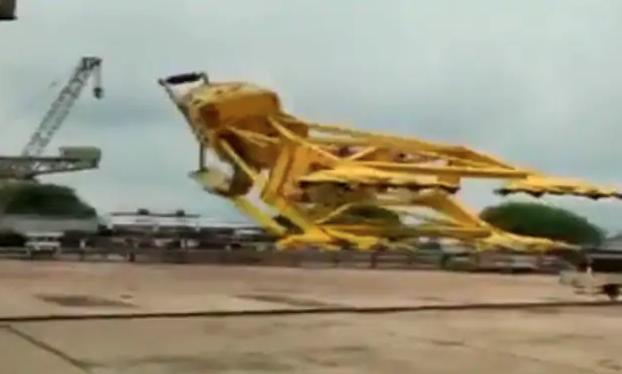 11 killed after massive crane collapses at Visakhapatnam shipyard