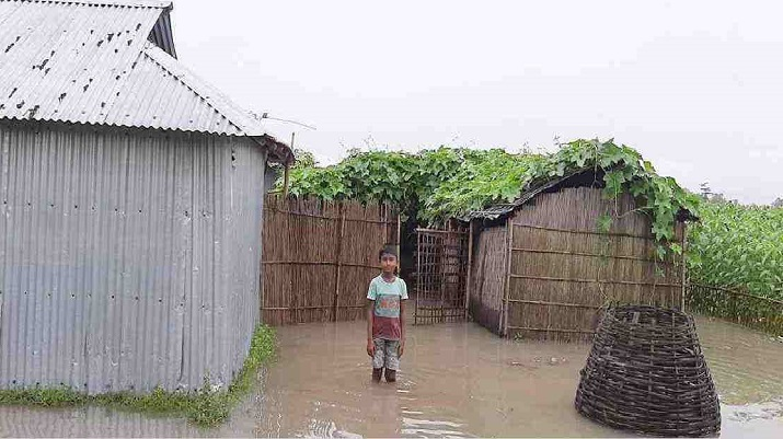 Fresh flood, erosion hit Kurigram, Madaripur hard