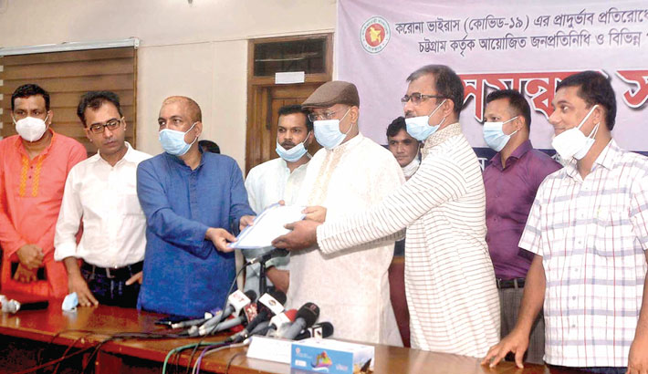 Leaders of Chattogram Journalists Union submit a memorandum to Information