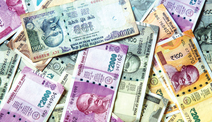 Rupee declines against dollar
