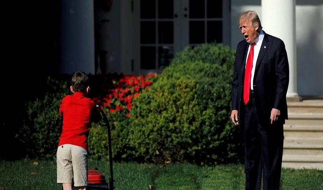 Trump claims children are
