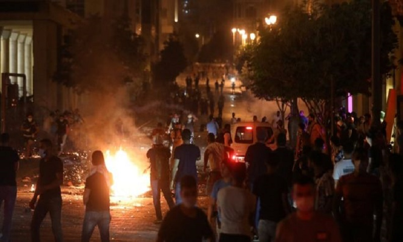 Beirut explosion: Anti-government protests break out in city