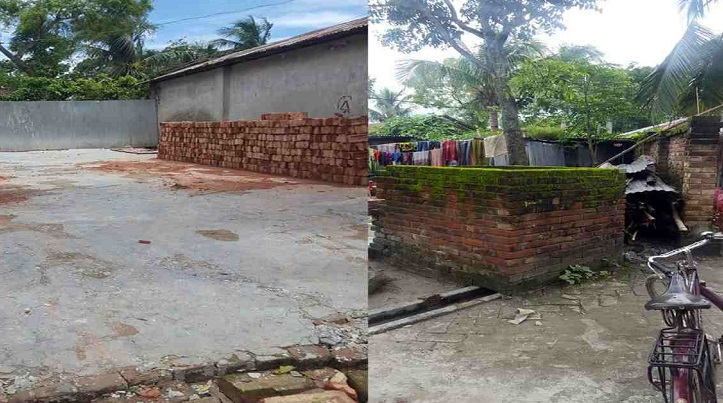 Grabbers occupy road, build house on it in Jhenaidah