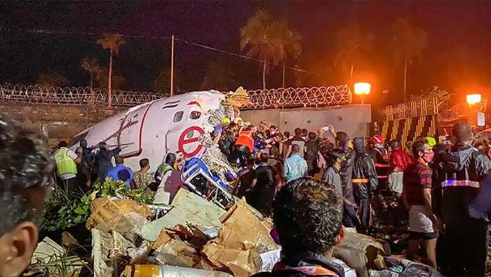 Air India Express flight skids off runway, 20 killed, dozens hurt