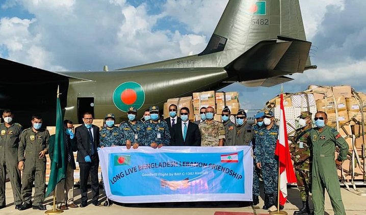 Bangladesh aircraft with humanitarian assistance reaches Beirut