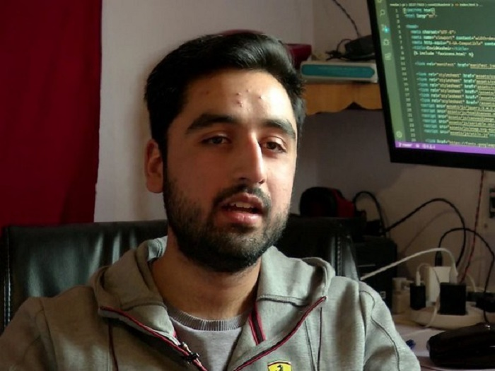 Kashmiri student develops Covid -19 tracker to help residents of Valley