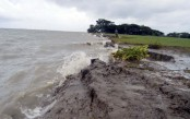 River erosion intensifies as floodwater receding