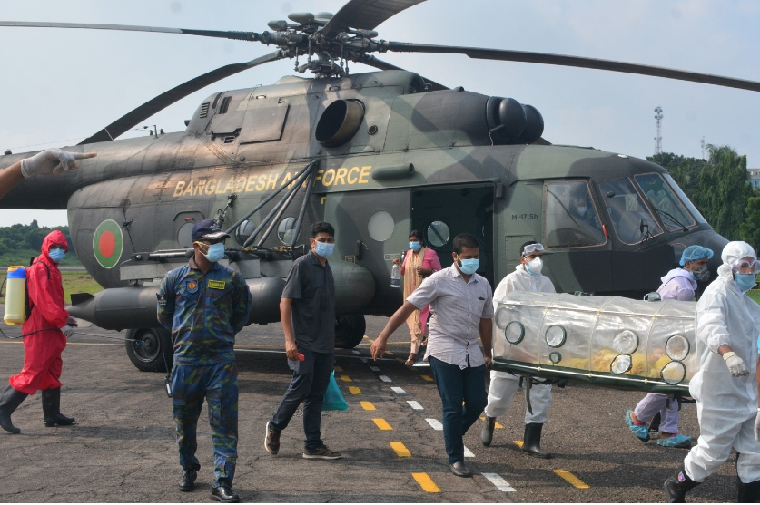BAF airlifts coronavirus-infected judge from Dinajpur to Dhaka