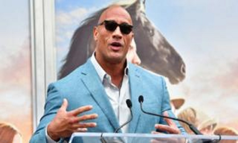 Dwayne Johnson is highest-paid male actor