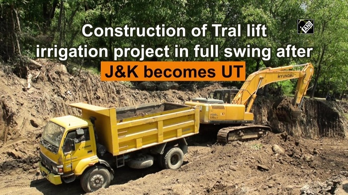 Construction of mega lift irrigation project at Tral in full swing after J-K was made UT