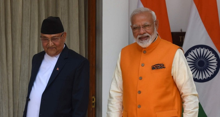 Indian, Nepalese prime ministers talk amid border dispute