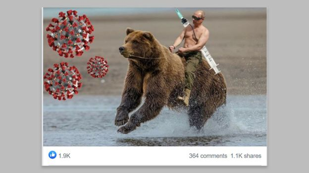 Putin vaccine memes flood social media